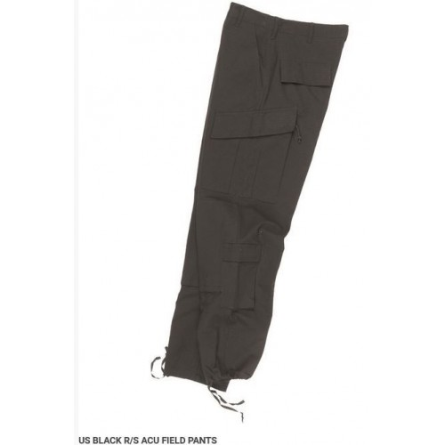 US Trousers, ACU, Rip Stop, Black