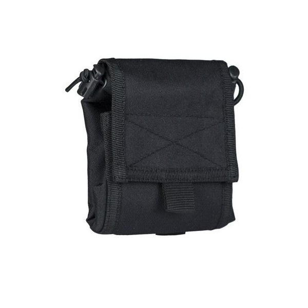 BLACK EMPTY SHELL POUCH COLLAPS