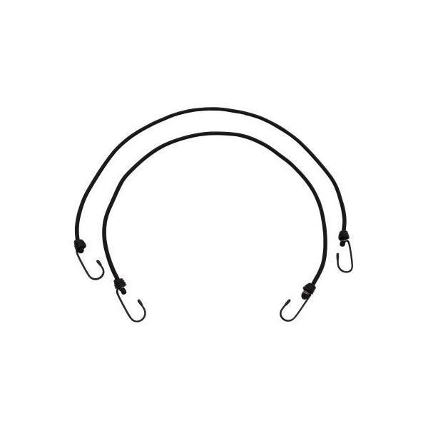Expander, 6 mm, w/hook, 75 cm, black, two pack